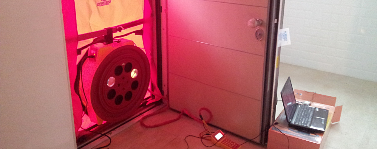 Efficienza Energetica - Blower Door Test Bure