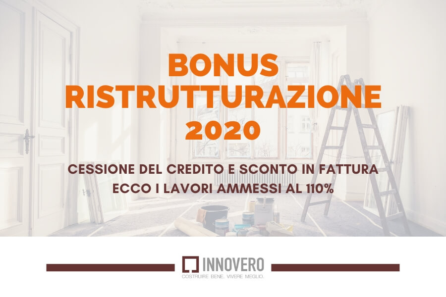 Bonus ristrutturazione 2020 Ecobonus lavori al 110%