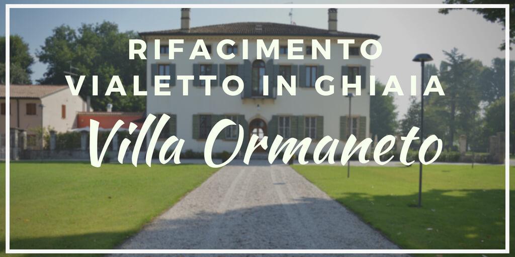 Rifacimento del viale in ghiaia di Villa Ormaneto